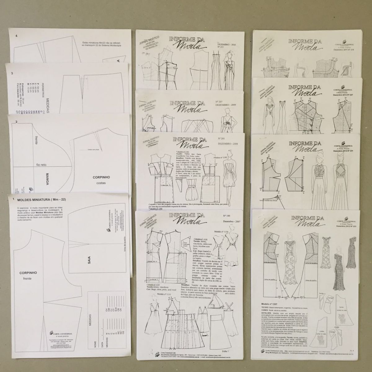 Informe da Moda (148 ao 189)  - Corte Centesimal