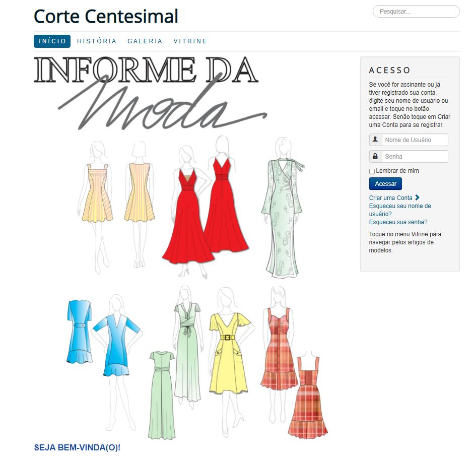 Biblioteca Digital do Informe da Moda, assinatura semestral  - Corte Centesimal