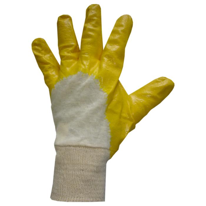 Luva de Segurança Em Algodão Nitrilatex Com Punho Malha E Banho Nitrílico Plastcor CA 36473