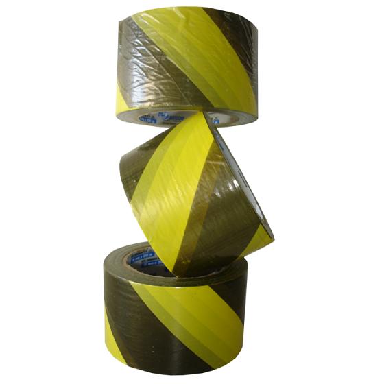 Fita Zebrada Preta e Amarela 0,70 x 200 m - Plastcor