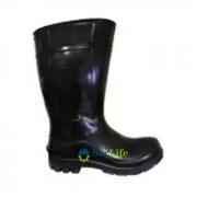 BOTA DE PVC COR PRETO COM FORRO MODELO 204 COM CANO CURTO CARTOM CA 32167  - NCM 6401.92.00