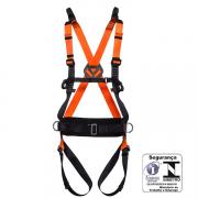 Cinturão Paraquedista MULT2010A abdominal c/ reg. total e porta ferramentas Cinturão Com 5 pontos De Ancoragem MG Cintos CA 35531