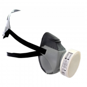 KIT MASCARA AIR SAN SEMIFACIAL COM FILTRO 410 P2, AIR SAFETY CA 12973 - NCM 9020.00.10