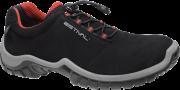 Sapato Ocupacional  EN1002 1S2 Em Microfibra Cor Preto e Vermelho Estival CA 28140