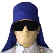 Touca de Soldador Sem Aba Em Cor Brim Azul Royal Plastcor