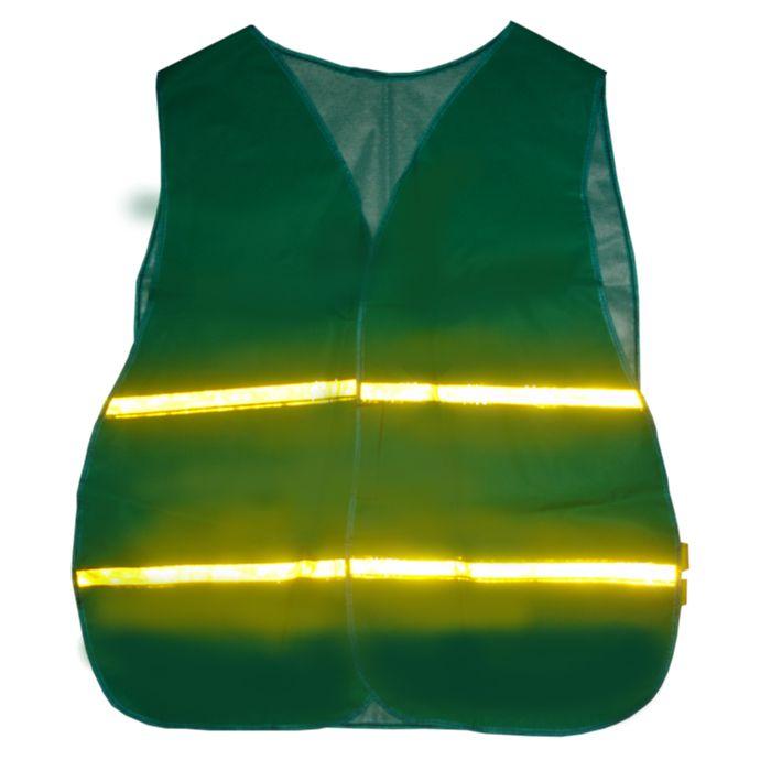 Colete Tipo Jaqueta Verde ou Laranja com Refletivo Tam GG