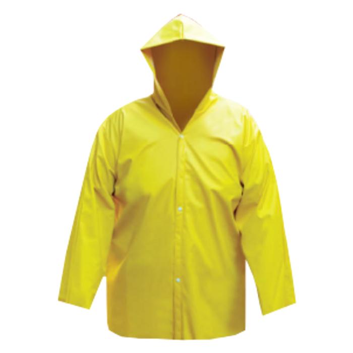 Capa de Chuva de PVC Forrado Cor Amarela Plastcor CA 36.254