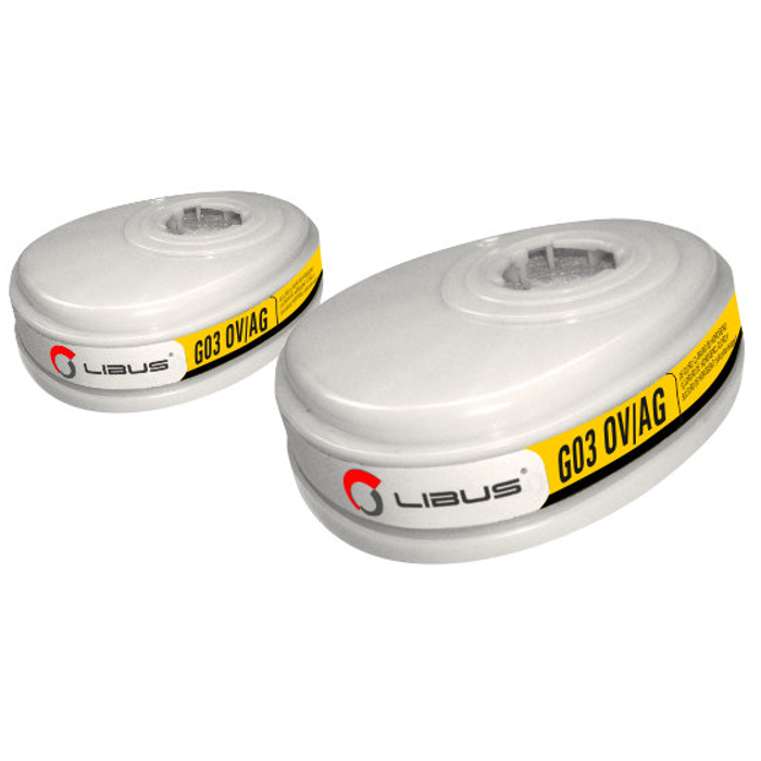 KIT Cartucho Químico G03 OV/AG Para Máscara Reutilizável Linha 9000 Libus CA 37706