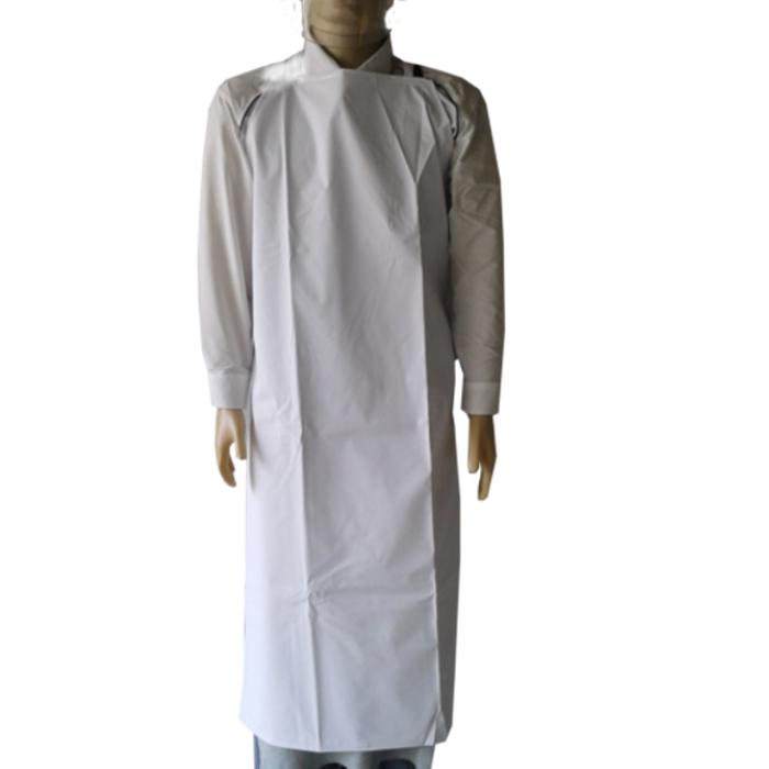 Avental de PVC Branco Forrado com tiras soldadas  - 1,20 x 0,70 (m) - CA 21075