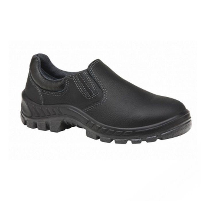 Sapato Ocupacional de Segurança Em Couro Cor Preto Com Fechamento Em Elástico Marluvas Modelo 50T19 BP CA 15387