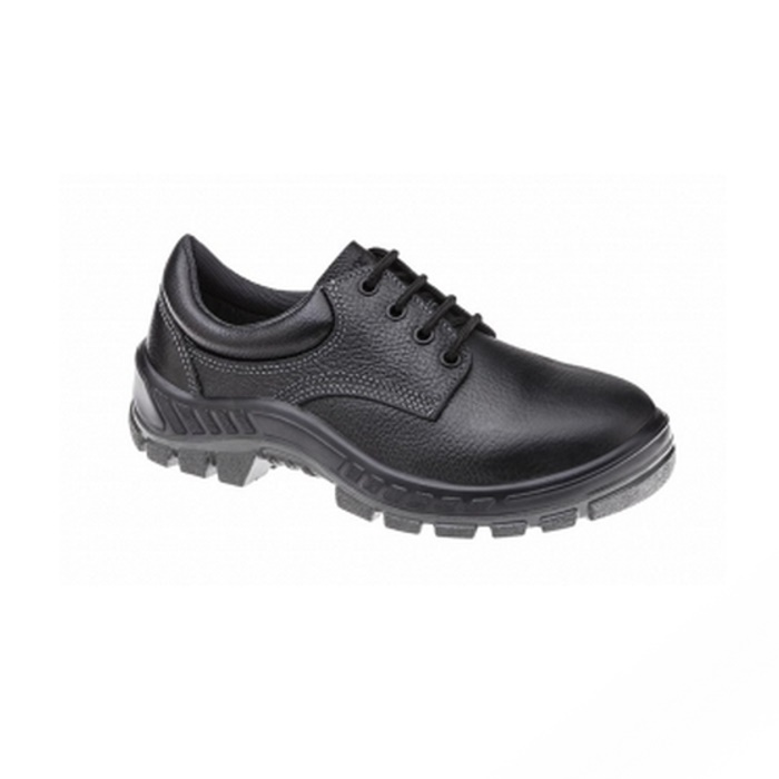 Sapato Ocupacional de Segurança Em Couro Cor Preto Fechamento em Cadarço Marluvas  Modelo 50S29 BP CA 64ead221ad