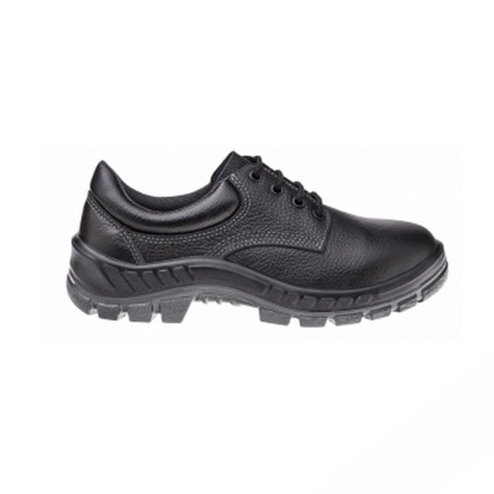 Sapato Ocupacional de Segurança Em Couro Cor Preto Fechamento em Cadarço Marluvas Modelo 50S29 BP CA 9017