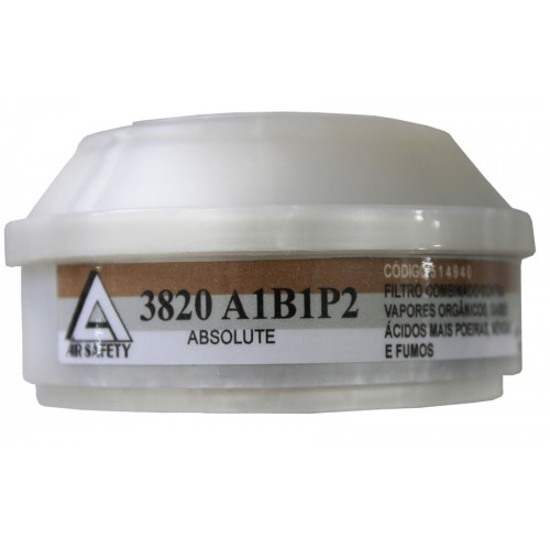 Filtro Combinado 3820 A1B1P2 Para Máscara Absolute  Air Safety CA 32351