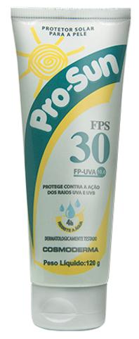 Protetor Solar PROSUN FPS 30. 120 g - Cosmoderma
