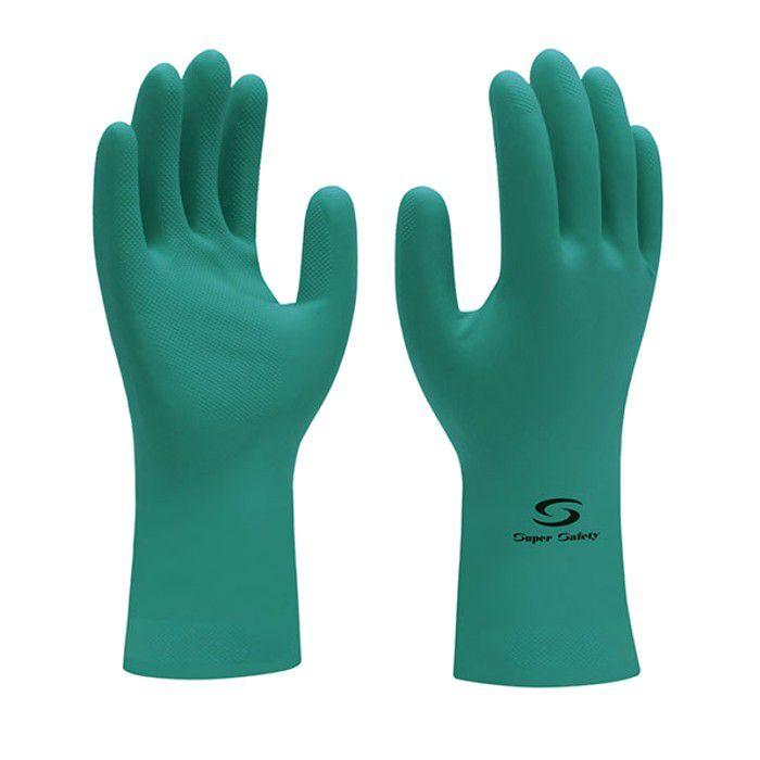 Luva de Segurança Nitrílica Verde Super Safety CA 33.334