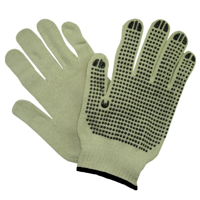 e6672730fda1b Luva de Segurança tricotada em fios de algodão e poliéster com pigmentos em  PVC Super Safety