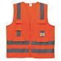COLETE REFLETIVO DE ALTA VISIBILIDADE COM 1 BOLSO LARANJA SUPER SAFETY - NCM 3519.05.22