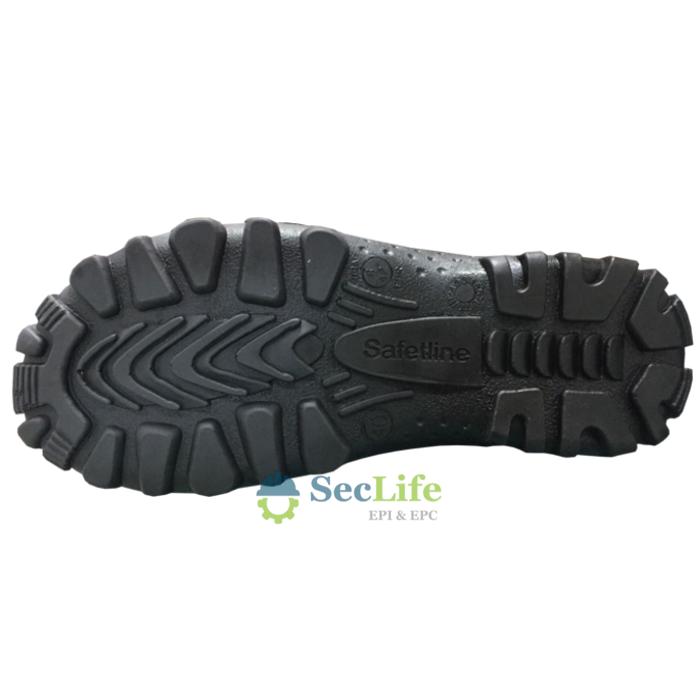 Botina Segurança 4850AC Acolchoada Bico Aço Cor Preta SafetLine  CA 12843