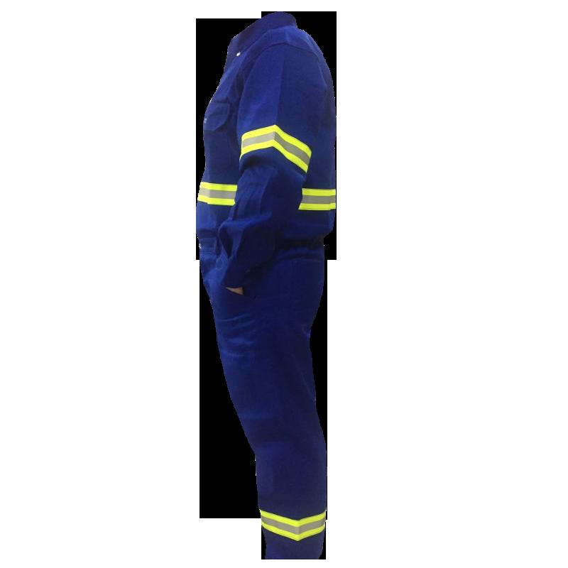 Calça Meio Elástico STD UNIFORTE FR Azul Royal Com Faixa Refletiva Para Eletricista Risco 2 Qualytextil CA 31.858