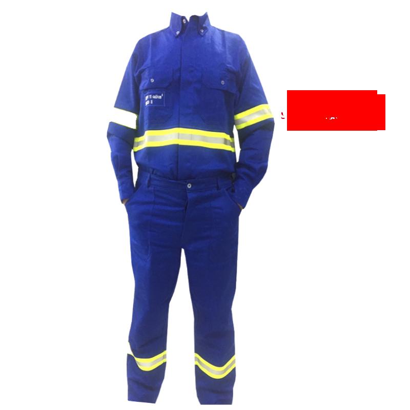 CALÇA ELETRICISTA AZUL ROYAL MEIO ELÁSTICO STD UNIFORTE FR SEM FAIXA REFLETIVA RISCO 2 QUALYTEXTIL CA 31858