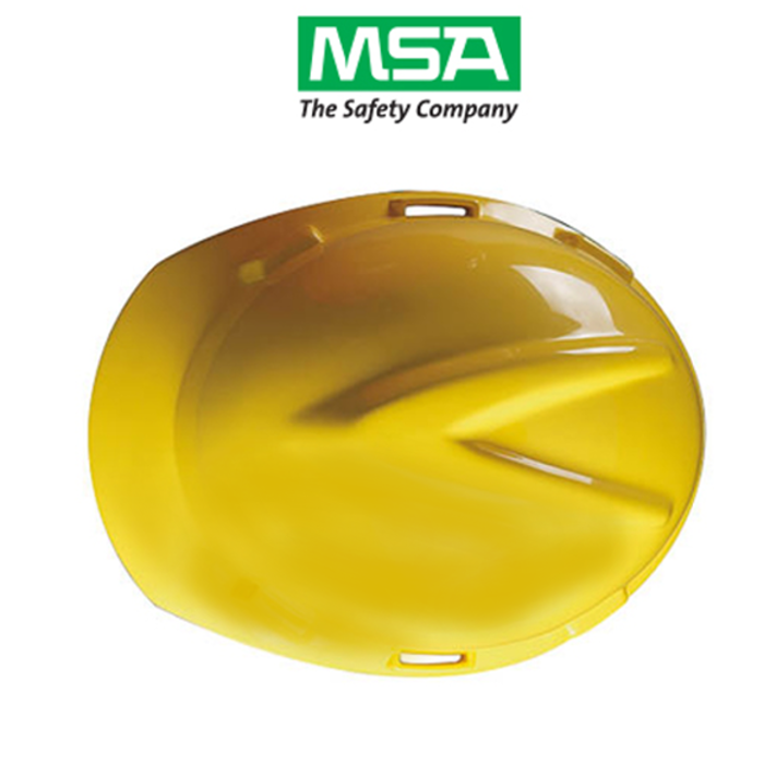 Capacete MSA V Gard Amarelo Aba Frontal Suspensão Push Key e Jugular Classe  B CA 498 0b9050245b