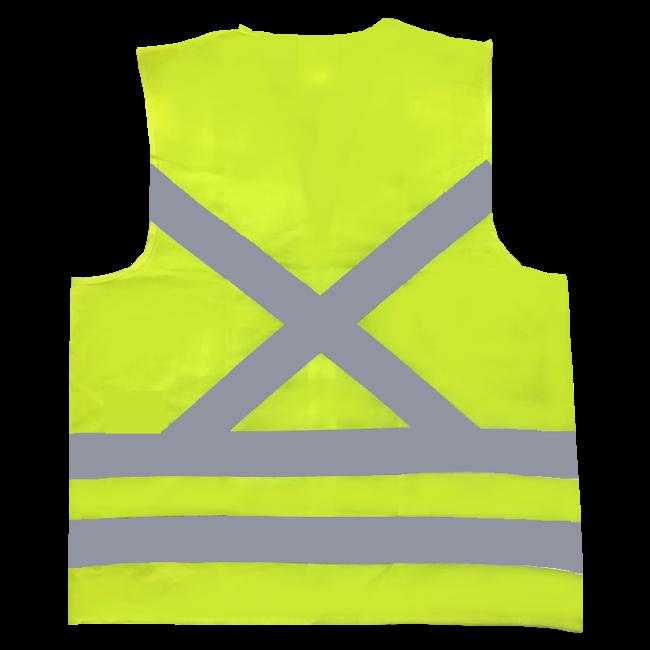 Colete Refletivo de Alta Visibilidade Sem Bolso Amarelo Super Safety