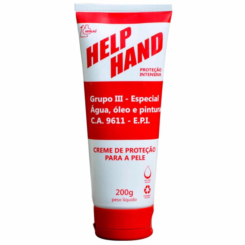 HELP HAND GRUPO III CREME DE PROTEÇÃO BISNAGA 200G HENLAU CA 9611