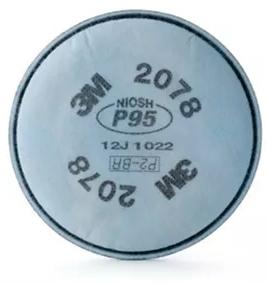 Filtro Mecânico 2078 P2 Contra Poeiras, Névoas e Fumos 3M CA 4115