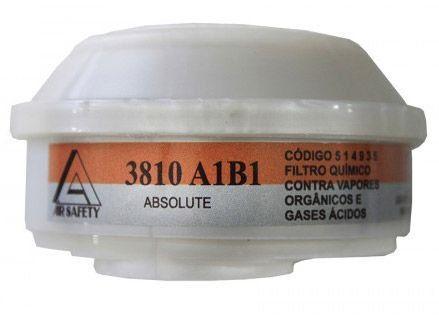 Filtro Químico 3810  A1B1 VO/GA  para Máscara ABSOLUTE CA 16.774 - Air Safety