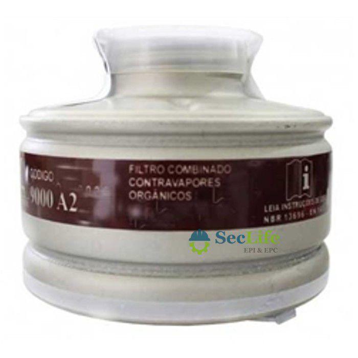 Filtro Químico Tipo 9000A2  VO Para Uso Na Máscara RB STD-ABS Air Safety CA 5738