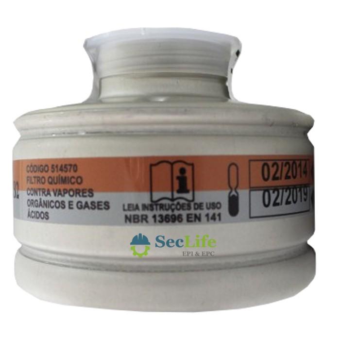 Filtro Químico Tipo 9000 A2B2  VO / GA Para Uso Na Máscara RB STD-ABS Air Safety CA 5.758
