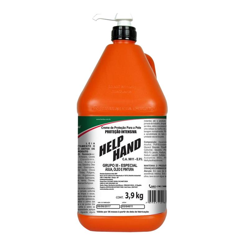 Help Hand Grupo III Creme de proteção Galão de 3,90 Kg - HENLAU CA 9611