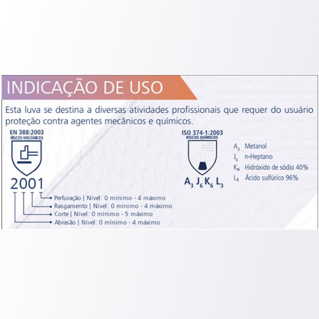 LUVA DE SEGURANÇA EM NITRILICA KA10 FORRADA COR VERDE KALIPSO CA 11769 -NCM 4015.19.00