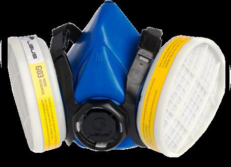 Máscara Semi-Facial Respirador Em Elastomérico Reutilizável Mod. 9200 Libus CA 37706