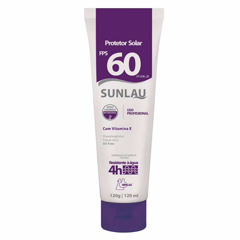 Protetor Solar SUNLAU FPS 60 Bisnaga 120G - HENLAU