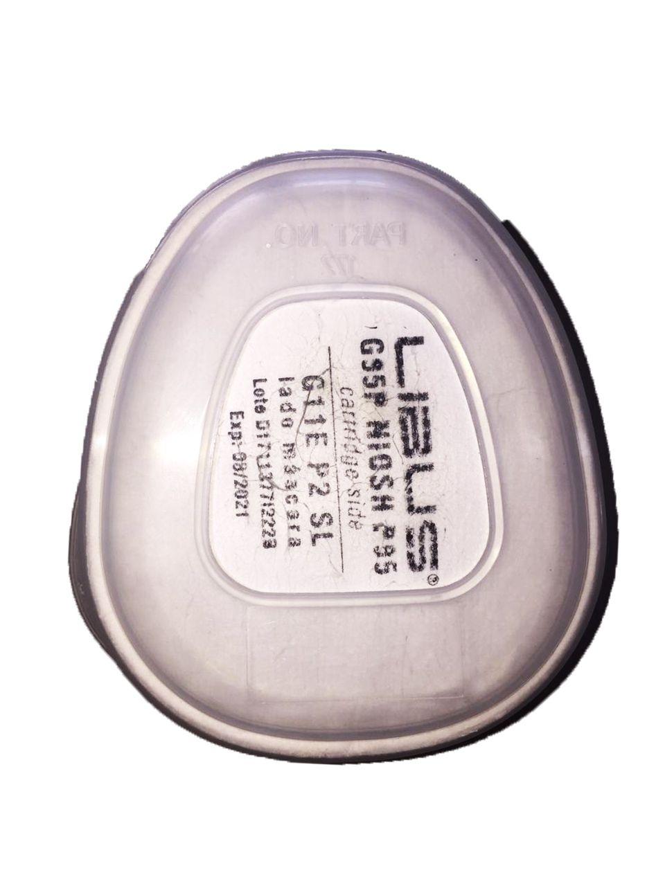Retentor G11E Pré Filtro de Particula p/ cartucho da máscara reutilizável Linha 9000.  CA 37706 - Libus
