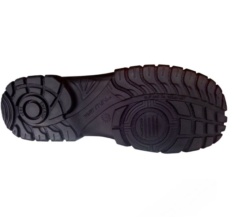 Sapato de Segurança EN1002 3S2 Com Bico Composite Em Microfibra Cor Preto e Cinza Estival CA 42554