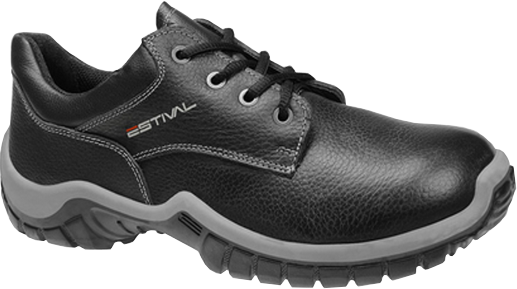 Sapato de Segurança WO10043S1 Com Bico Composite Em Couro Curtido ao Cromo Estival CA 42.553