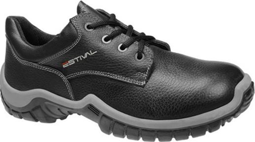 Sapato Ocupacional WO1004 1S1 Com Bico PVC Em Couro Curtido ao Cromo Estival CA 27849