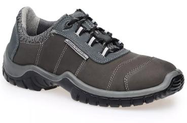 Sapato Ocupacional EN1004 1S1 Em Couro Nobuck Cor Grafite e Azul Estival CA 28147