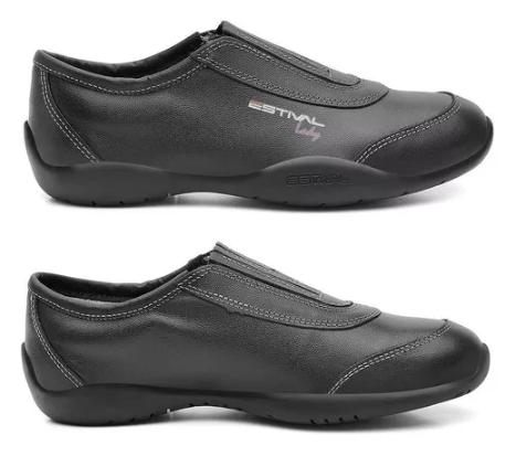 Sapato Ocupacional MS Lady MS1010 Em Couro Estival  CA 40377