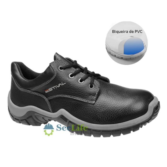 SAPATO OCUPACIONAL WO10041S1 COM BICO PVC EM COURO ESTIVAL CA 27849 - NCM 6403.99.90
