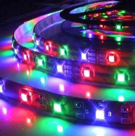 Fita LED 12v RGB 14.4W 5050 72w 300 Leds IP65 5 Metros + Controle  - OUTLED ILUMINAÇÃO