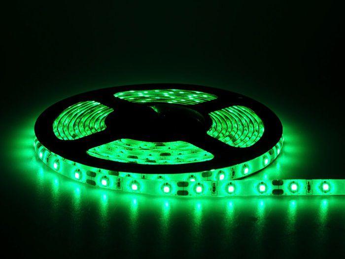 Fita LED 12v Verde 3528 24w 300 Leds Ip65 / 5 Metros  - OUTLED ILUMINAÇÃO