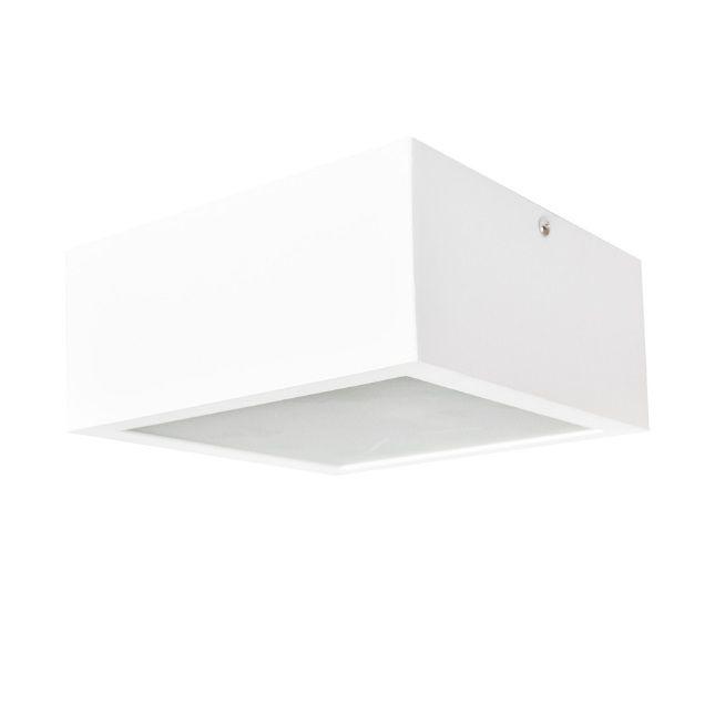 Plafon 12w 3000k LED Sobrepor Quadrado Box DL071WW  - OUTLED ILUMINAÇÃO