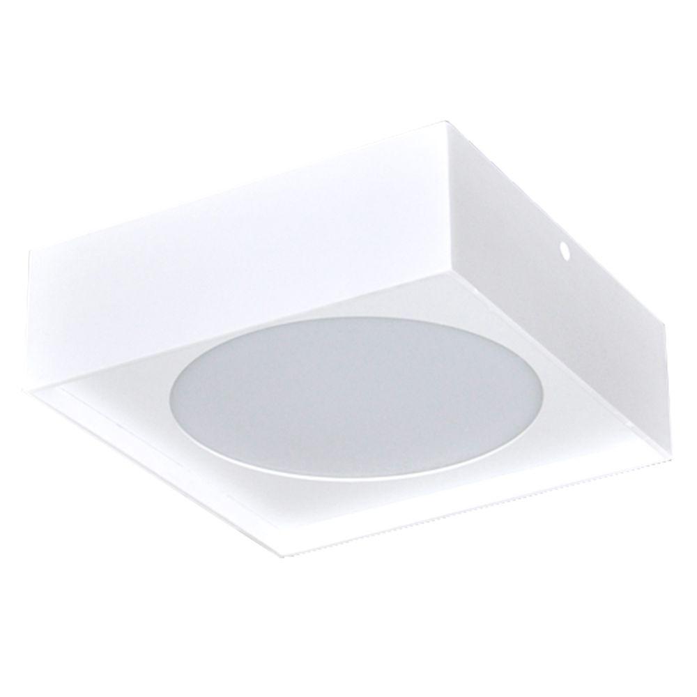 Plafon 12w 3000k LED Painel Sobrepor Branco Quad Bin DL055M  - OUTLED ILUMINAÇÃO
