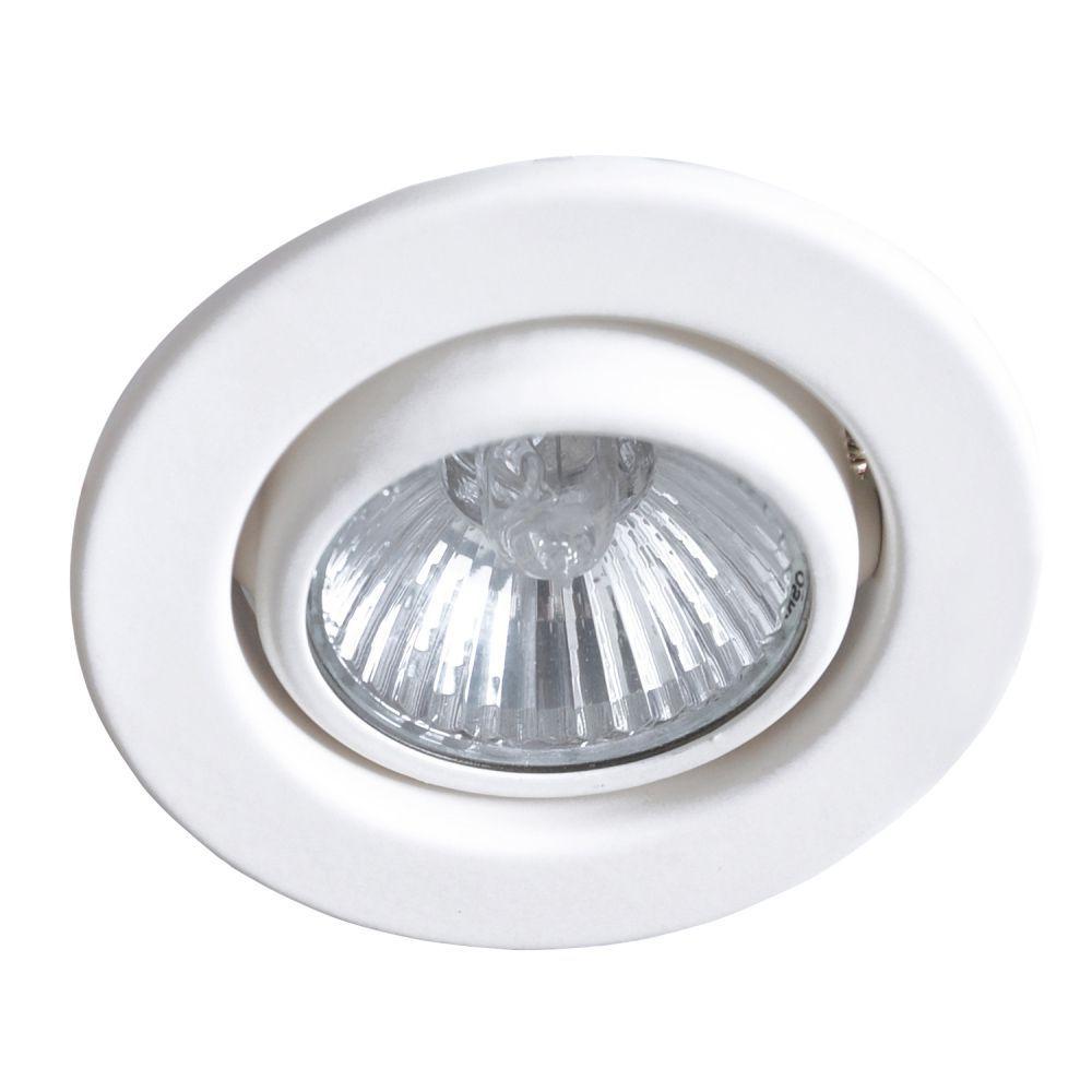 Spot de Embutir Redondo Direcionável AR70 Branco DL062  - OUTLED ILUMINAÇÃO