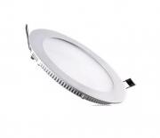 Plafon LED Painel Embutir Redondo Slim 12w 6000k Branco Frio