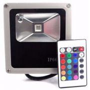 Refletor 10w RGB LED Holofote Bivolt Colorido