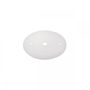 Canopla Plana Tampa Cega Espelho para Trilho Branco SD1000BR
